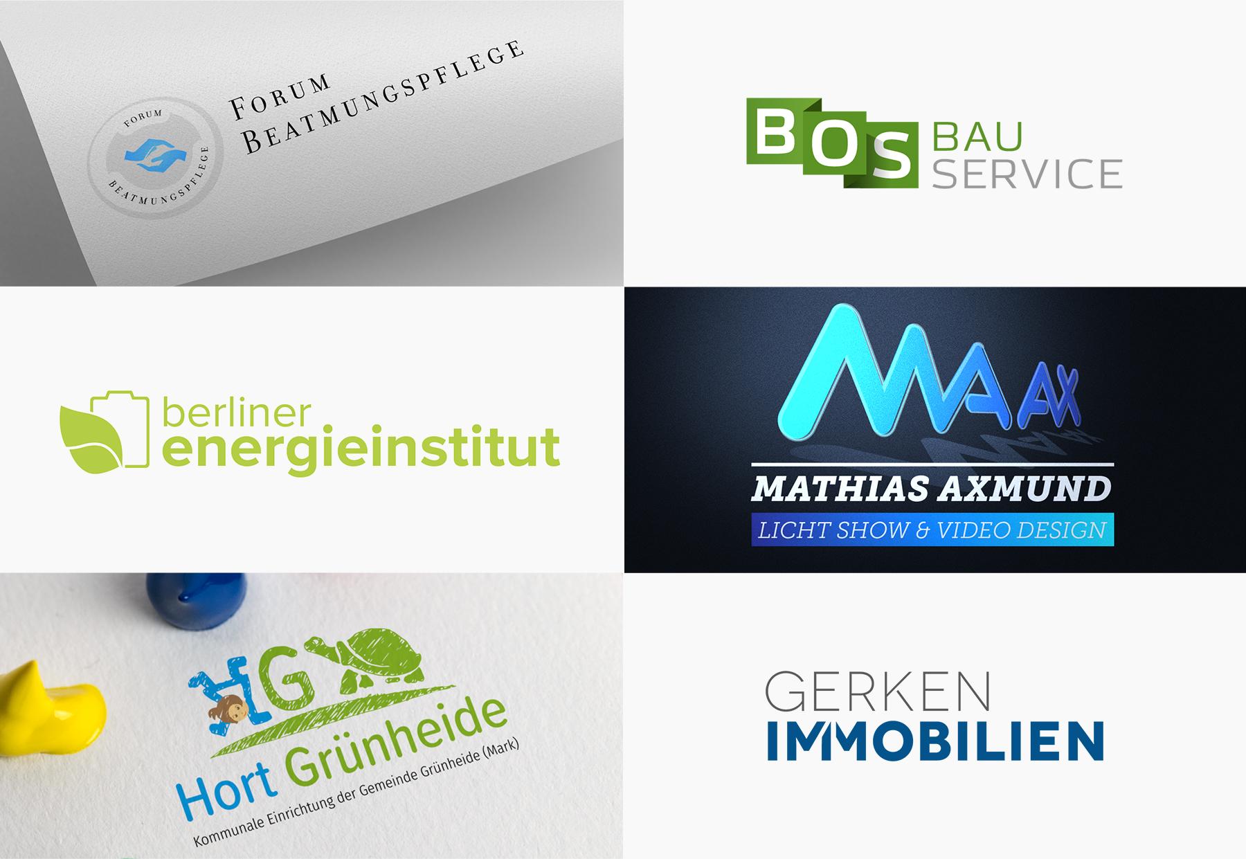 Logos verschiedene - Grafikdesign Janine Frake
