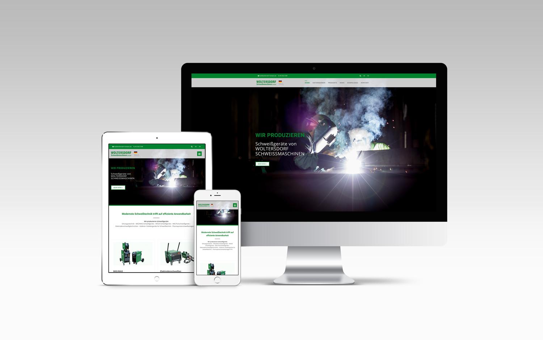 Webdesign - Woltersdorf Schweissmaschinen GmbH - Gestaltung für Print und Web - Grafikdesign Janine Frake