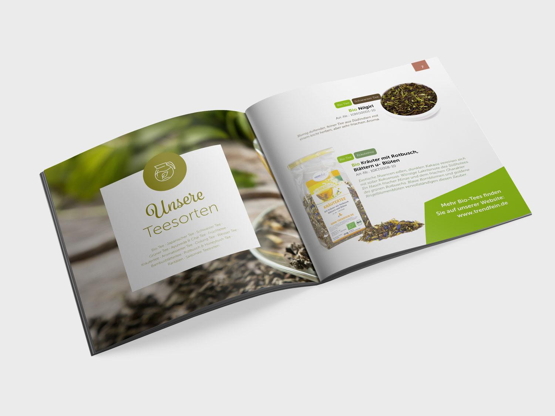 Produkt-Broschüre eines Onlineshops